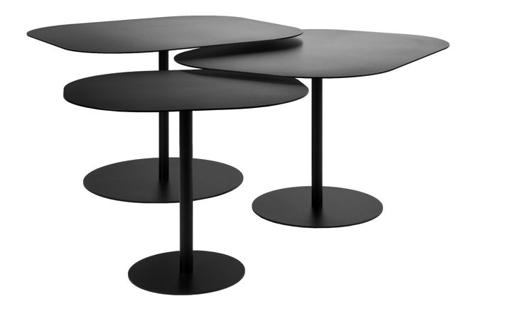 galets tables basses noir m tal design love pinterest. Black Bedroom Furniture Sets. Home Design Ideas