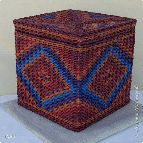 Всем привет.  Продолжаю развивать тему плетения орнаментов на коробах с квадратным дном. Ну, и не только.  Вот и результат: фото 6