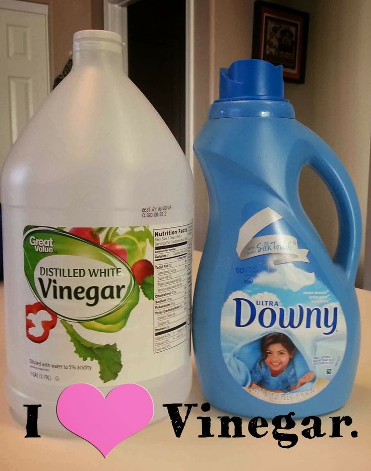 Using vinegar instead of downy ,  it's a good thing.