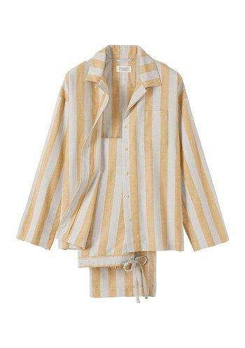 Women's Vintage Stripe Pyjama, Toast