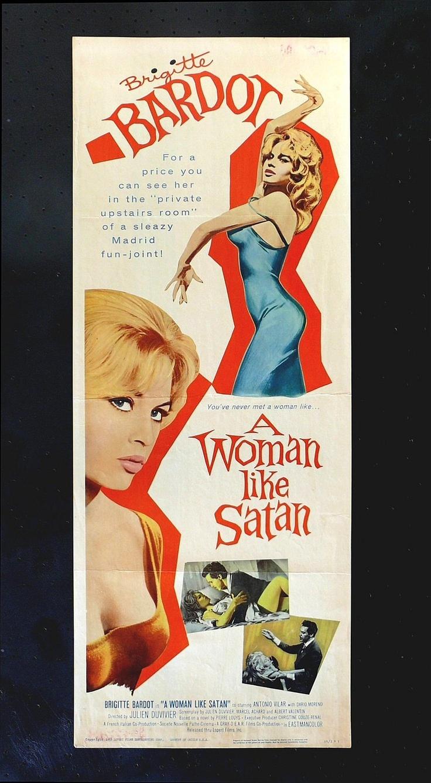 A Woman Like Satan CineMasterpieces Movie Poster Insert Brigitte Bardot | eBay