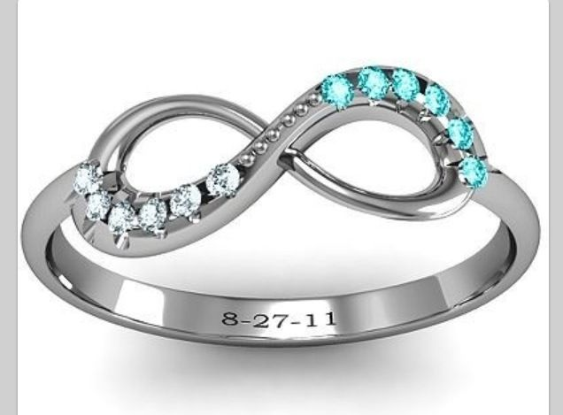 his hers birthstones promise ring my future