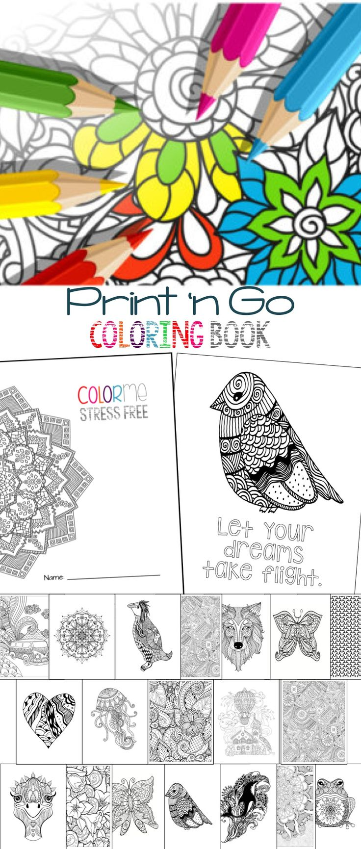Free coloring pages end of school - Stress Reducing Coloring Pages
