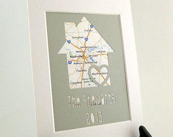 Ons eerste huis gepersonaliseerde eigen kaart door HandmadeHQ