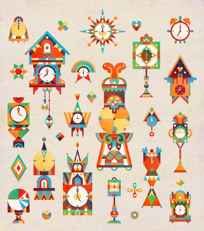 New Work from Illustrator Matt Lyon, aka C86 | bright, tribal inspired illustration