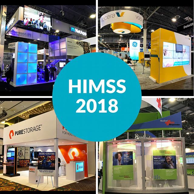 HIMSS 2018 closes today in Las Vegas and Pinnacle is thrilled to have been a part of this great show! It felt strong and booths were bustling with activity! A huge thank you to our clients. Swipe to see individual shots. Want a new look and strategy for next year's show? Let's chat! * 2  NetApp brought a stylish double-decker with multiple layers of messaging. An impactful LED video screen in the hanging sign, bold graphics, and eye-level features that captured the attention of anyone…