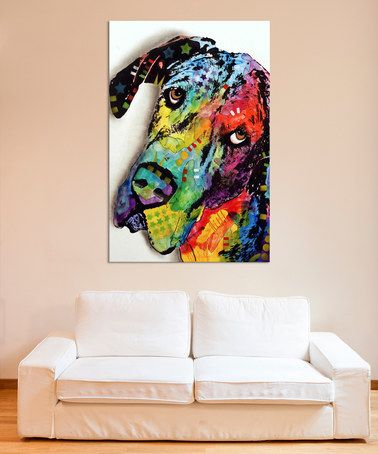Look what I found on #zulily! Tilted Dane Wrapped Canvas #zulilyfinds