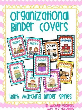 Organizational Binder Covers & Matching Binder Spines in your choice of black, blue or pink! Great way to keep your resources organized and neat