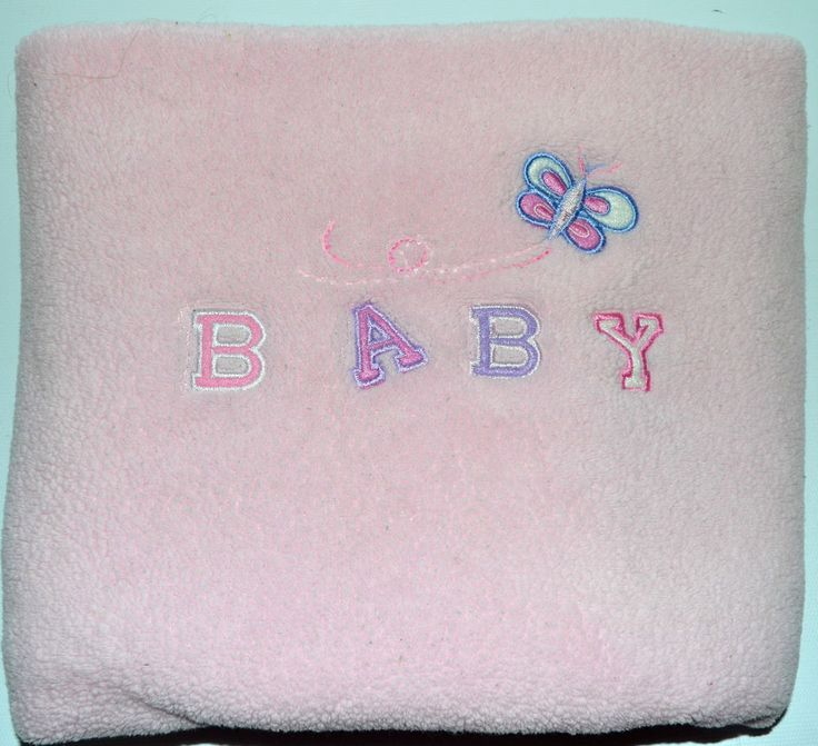 Carters Baby Blanket Soft Butterfly Pink Purple White BABY girls  #Carters