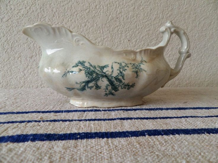 """Antique Ironstone Large Gravy Boat, Mellor Taylor & Co, England, """"Arcade"""" Pattern by birdcrafter on Etsy https://www.etsy.com/listing/218022953/antique-ironstone-large-gravy-boat"""