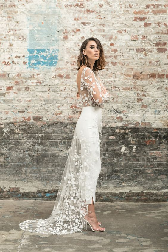 vestidos de novia para una boda civil | bodas 2018 | dress encaje