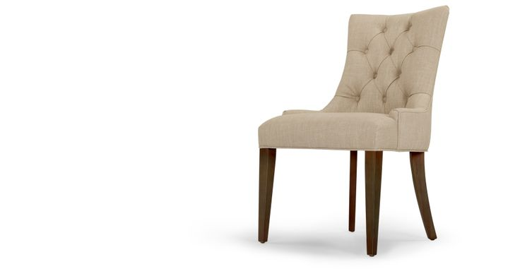 Love these dining chairs! Would like a pair to do with my chairs. Flynn Scoop Back Chair in biscuit beige | made.com
