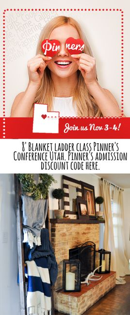 Pinners Conference Utah blanket ladder class and admission ticket discount code