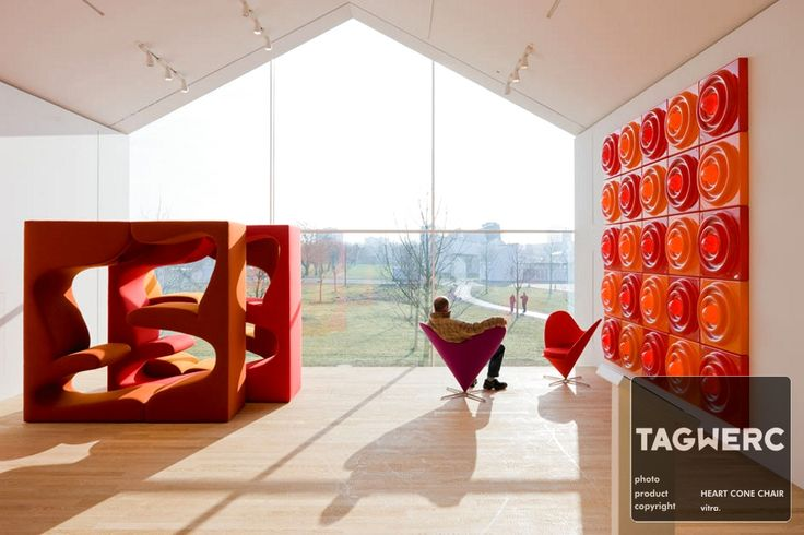 ...Heart Cone Chair vitra Furniture with Living Tower set - Verner Panton