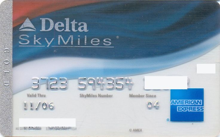 AmEx Delta Gold transparent (American Express, United States of America) Col:US-AE-0146