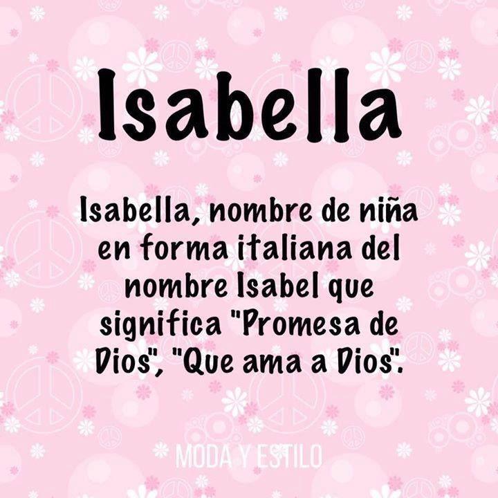 Significado Nombre Isabella