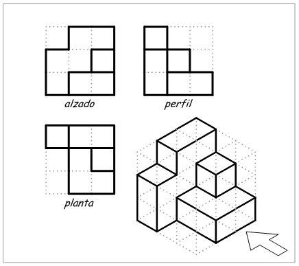 Visual i plàstica 3ESO El Castell. De diedrico a isometrico