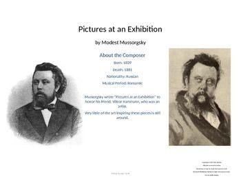 A full unit on Mussorgsky's Pictures at an Exhibition, along with concert ideas! Great exploration of the composer and program music for K-6 classes! Lesson plans and powerpoints.