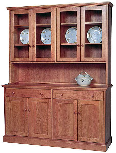 Shaker Style Buffet And Hutch Dining Room