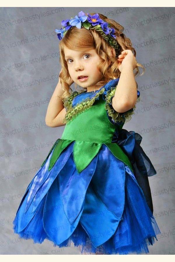 Children Fancy Carnival Costume Violet, Hyacinth 3314