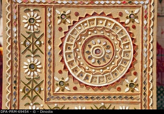 Modern mud and mirror work , Bhuj , Kutch , Gujarat , India
