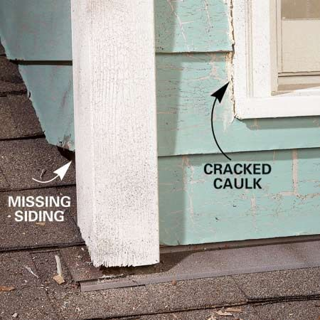 how to fix roof flashing leak