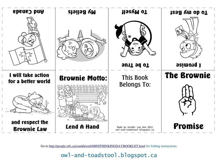 Canadian Brownie Promise mini colouring book  owl-and-toadstool.blogspot.ca