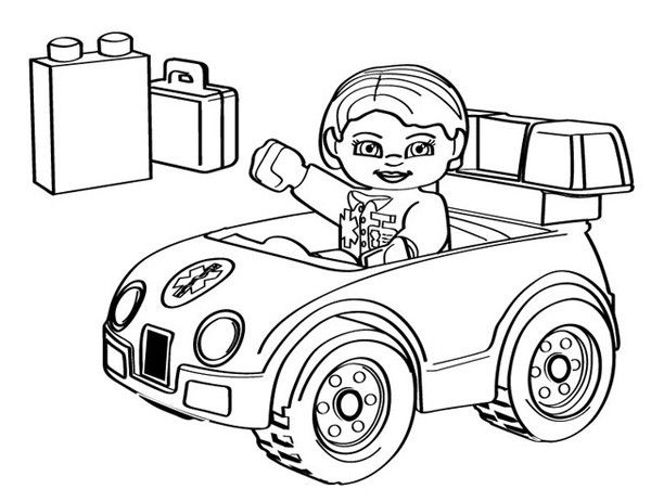 cartoon coloring pages lego ambulance - Ambulance Coloring Pages Printable