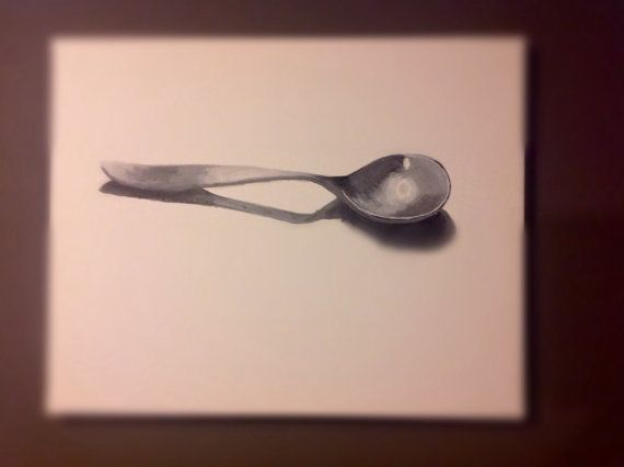 Home decor Giclee print of a Spoon  Kitchen Print by GraceAndForm, $16.95