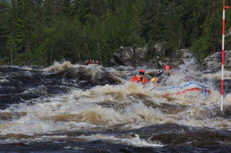 Riverrafting competition Kultainen Mela in Äijäkoski, Harriniva Muonio.