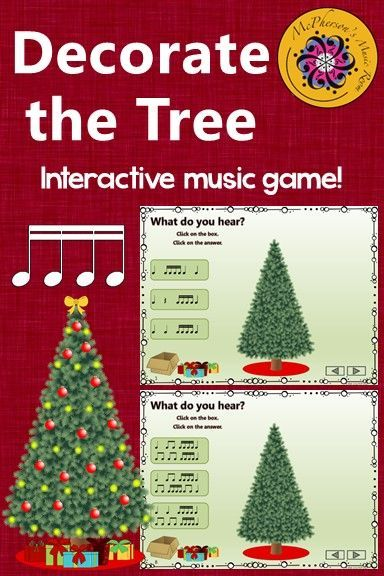 Your elementary music students will love watching the Christmas Tree Decorate itself when they select the correct answer in this sixteenth note interactive rhythm game! Perfect for Christmas or December lessons!