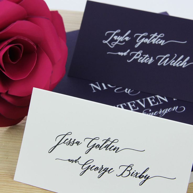 free templates for wedding response cards%0A Wedding place cards printed by LCI Paper  Choose any font  design your own