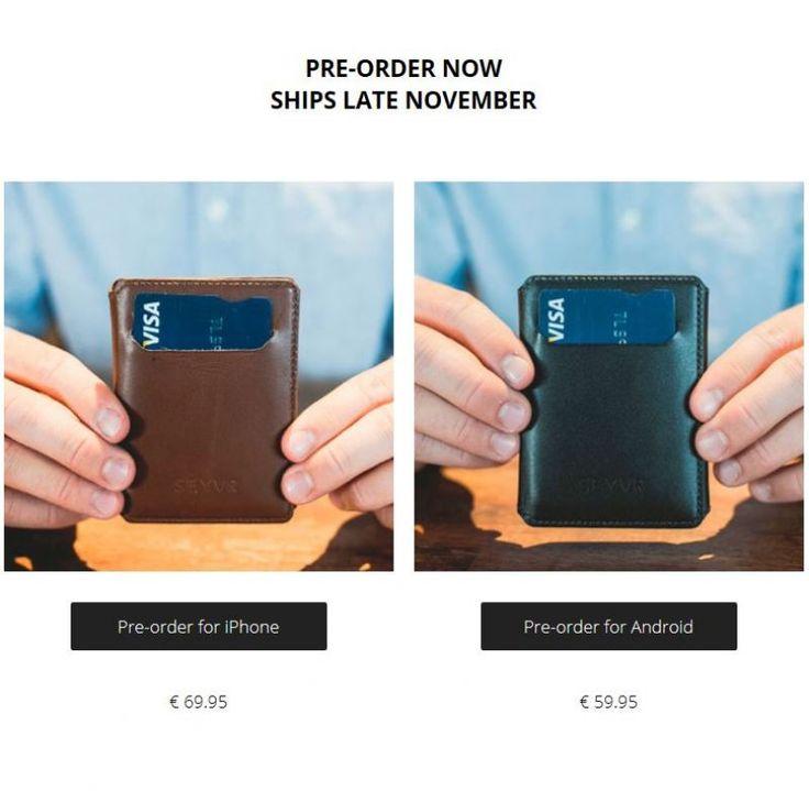 #PriceTalk #프라이스톡 이제 하루도 못가고 닳는 휴대폰 배터리를 항상 소지하는 지갑을 통해 충전할 수 있다. '세이버 폰 차징 월렛(SEYVR Phone Charging Wallet)'은 아이폰 충전기능을 갖춘 신개념 지갑이다.   고급 소가죽으로 만든 이 제품은 6개의 신용카드, 현금 등을 넣을 수 있을 뿐 아니라, 두께 6.4mm, 용량1,400mAh의 배터리팩이 들어있어 아이폰을 충전할 수 있다. 가격은 91.26달러이다.   seyvr.com