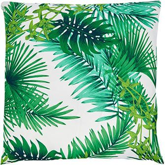 Green Palm Leaf Scatter Cushion