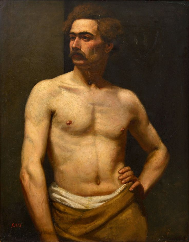 Albert Edelfelt 19854-1905 Male Model [1873] Private collection