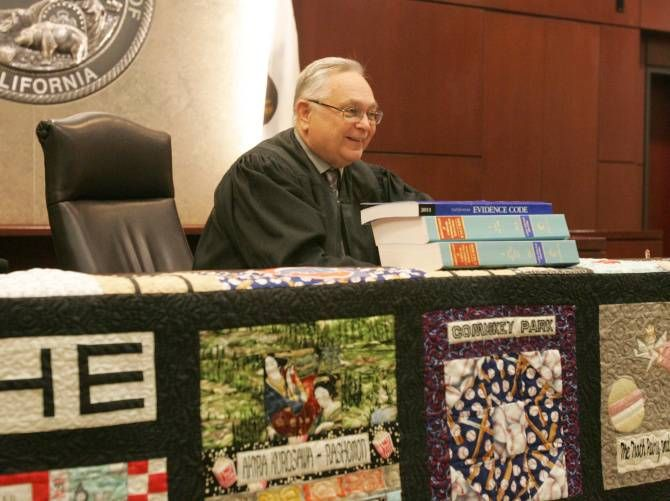 This court reporter created a quilt for her retiring judge to honor his long career and the journey they shared together.