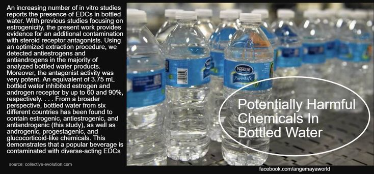 """Potentially Harmful Chemicals In #BottledWater. """"An increasing number of in vitro studies reports the presence of EDCs in bottled water. With previous studies focusing on estrogenicity, the present work provides evidence for an additional contamination with steroid receptor antagonists. Using an optimized extraction procedure, we detected antiestrogens and antiandrogens in the majority of analyzed bottled water products. Moreover, the antagonist activity was very potent. An equivalent of…"""