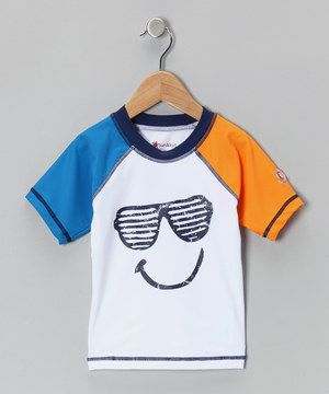 This LuvGear White Glasses Sun Alert Rashguard - Infant by LuvGear is perfect! #zulilyfinds