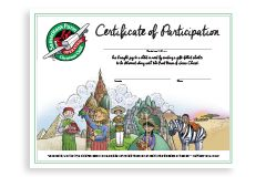 participation certificate