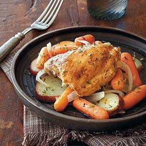 Chicken with Carrots and Potatoes | MyRecipes.com #myplate #protein #vegetable