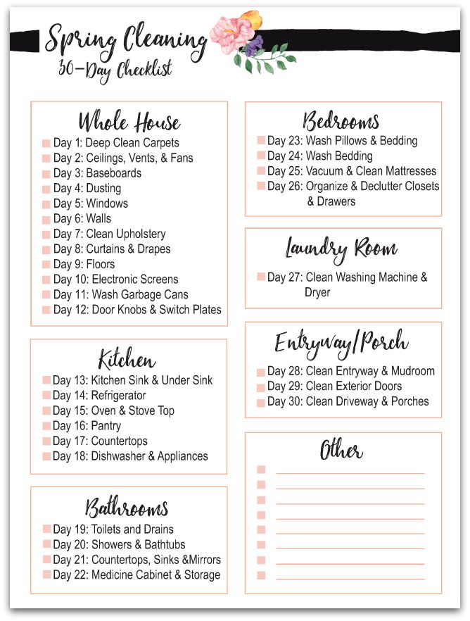 117 best Spring Clean Challenge images on Pinterest Cleaning - spring cleaning checklist