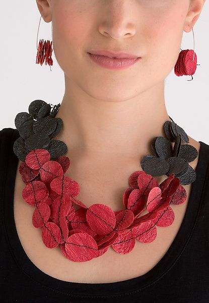 Joomchi Five Strand Necklace by Nancy Raasch: Paper Jewelry available at www.artfulhome.com