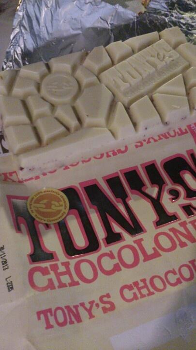 Geweldige combinatie met witte chocolade, framboos en knettersuiker!