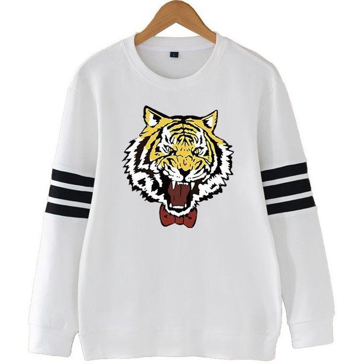 Yuri Plisetsky Tiger Sweatshirt (Black-White-Gray-Red)