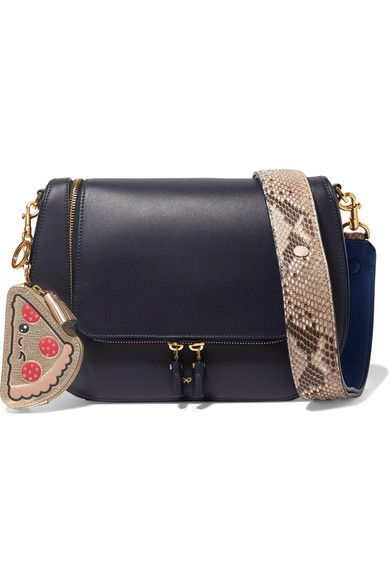 Anya Hindmarch - Embossed Metallic Textured-leather Coin Purse - Gold - one size