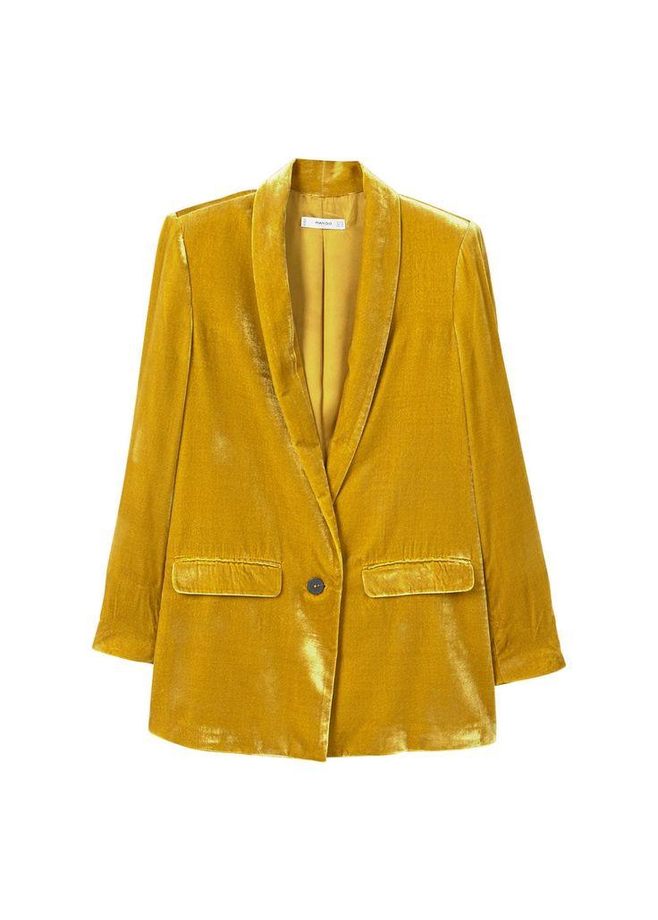 Mango velvet jacket
