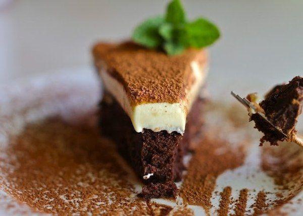Truffle dort s bílou čokoládovou pěnou