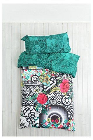 Green duvet cover B&W Luxury Desigual. Discover the fall-winter 2016 collection. Free shipping and returns in-store!