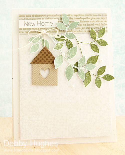limedoodle, Clearly Besotted Stamps, new home, card