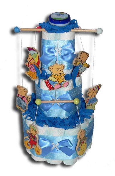 Teddy's World Windeltorte blau bestellen